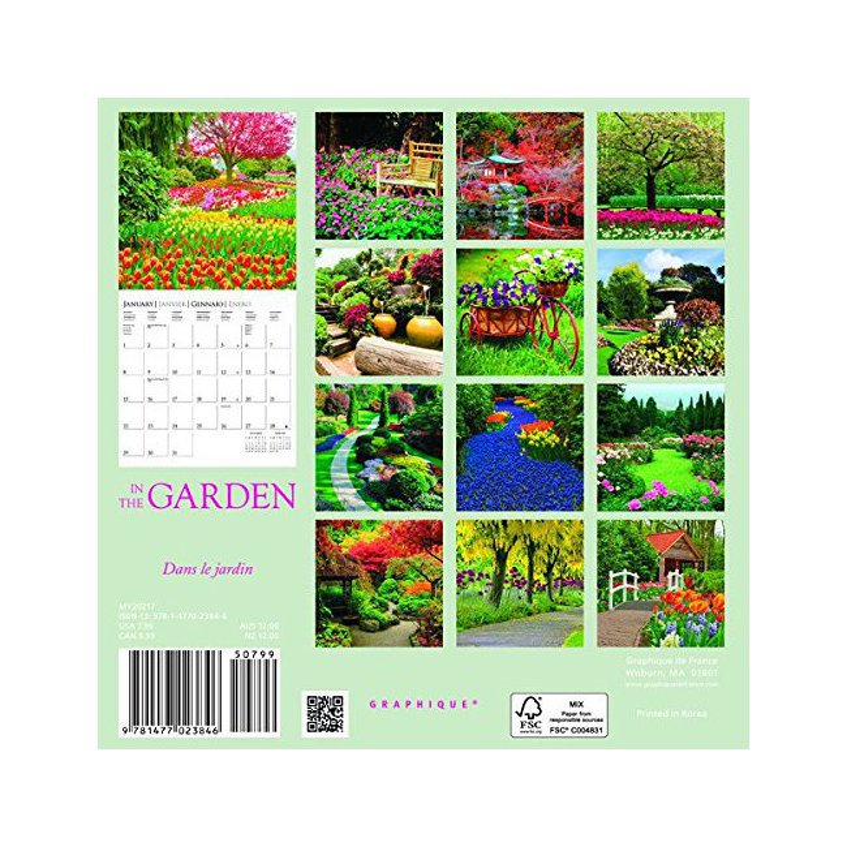 Mini calendrier jardin 2017 for Calendrier travaux jardin
