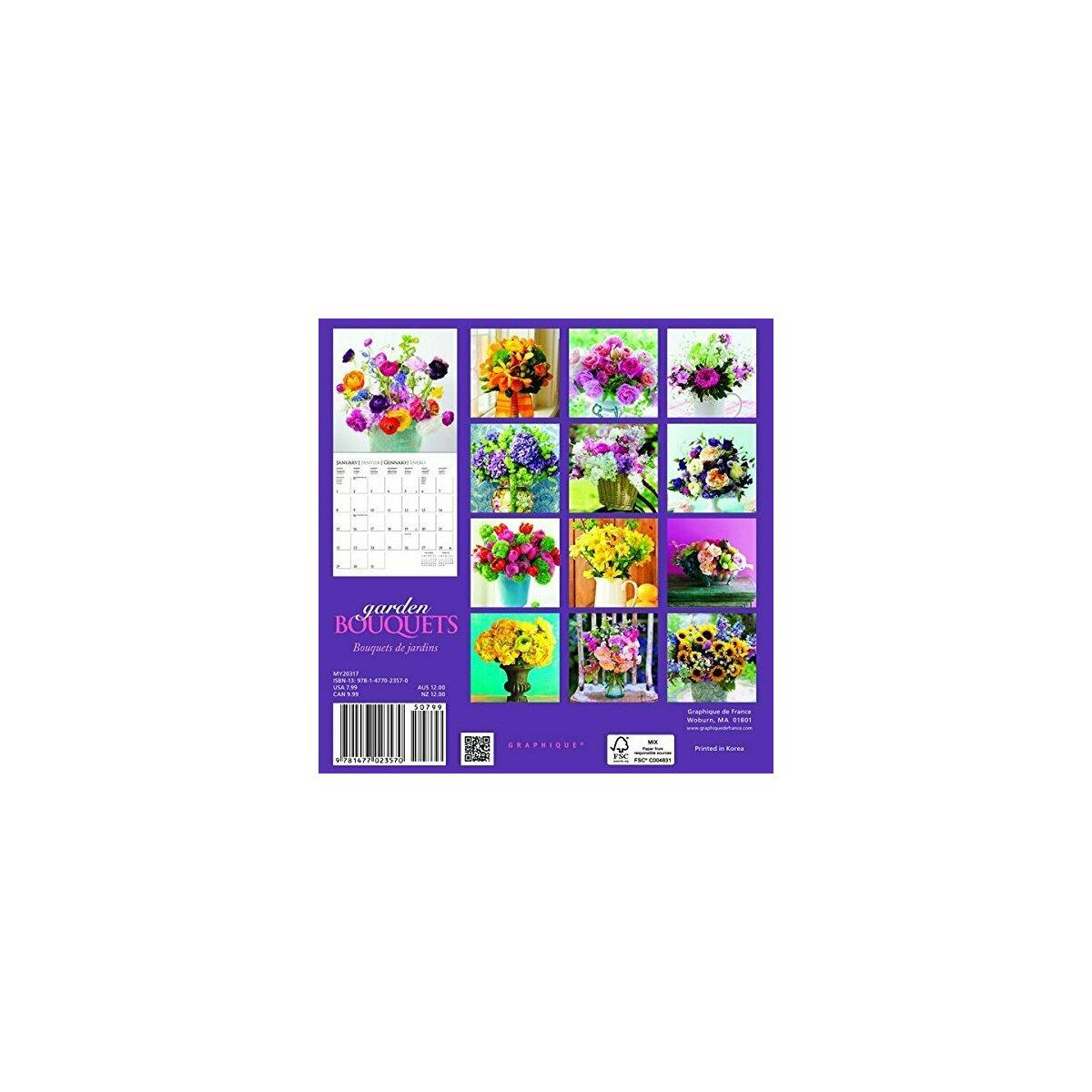 Mini calendrier bouqeuts de fleurs du jardin 2017 for Calendrier travaux jardin