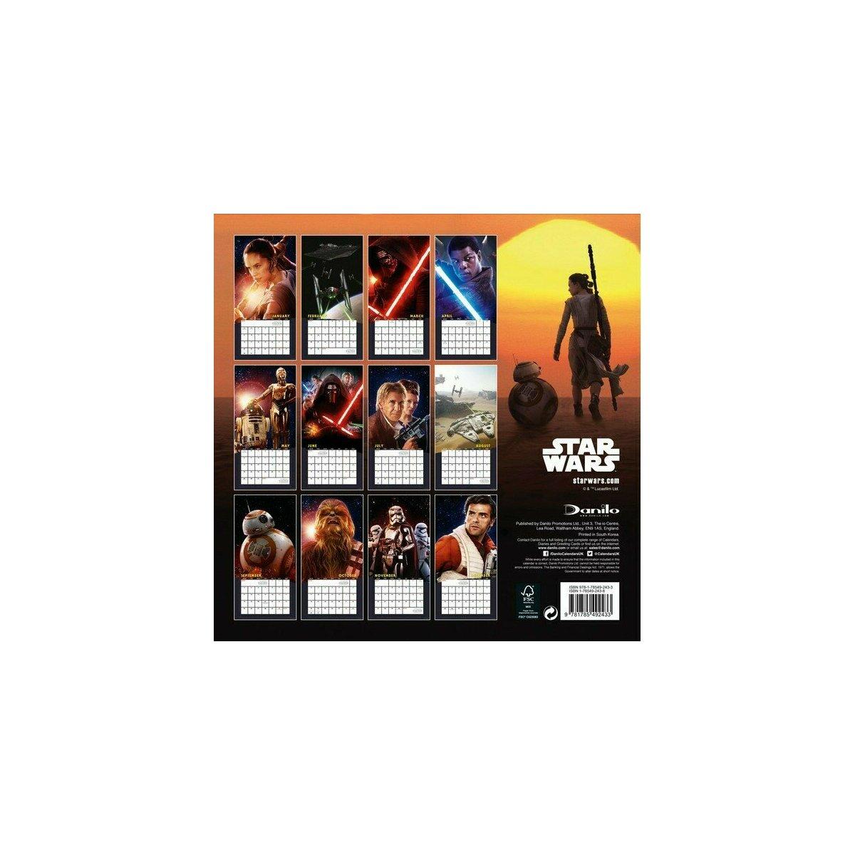 Calendrier 2017 Star Wars LE REVEIL DE LA FORCE - EPISODE 7