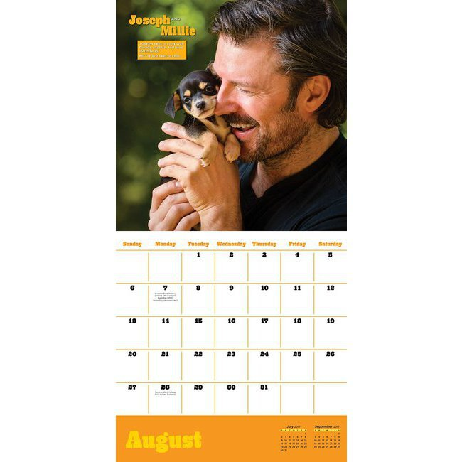 Calendrier 2017 sexy homme avec b b s animaux - Calendrier chinois bebe 2017 ...