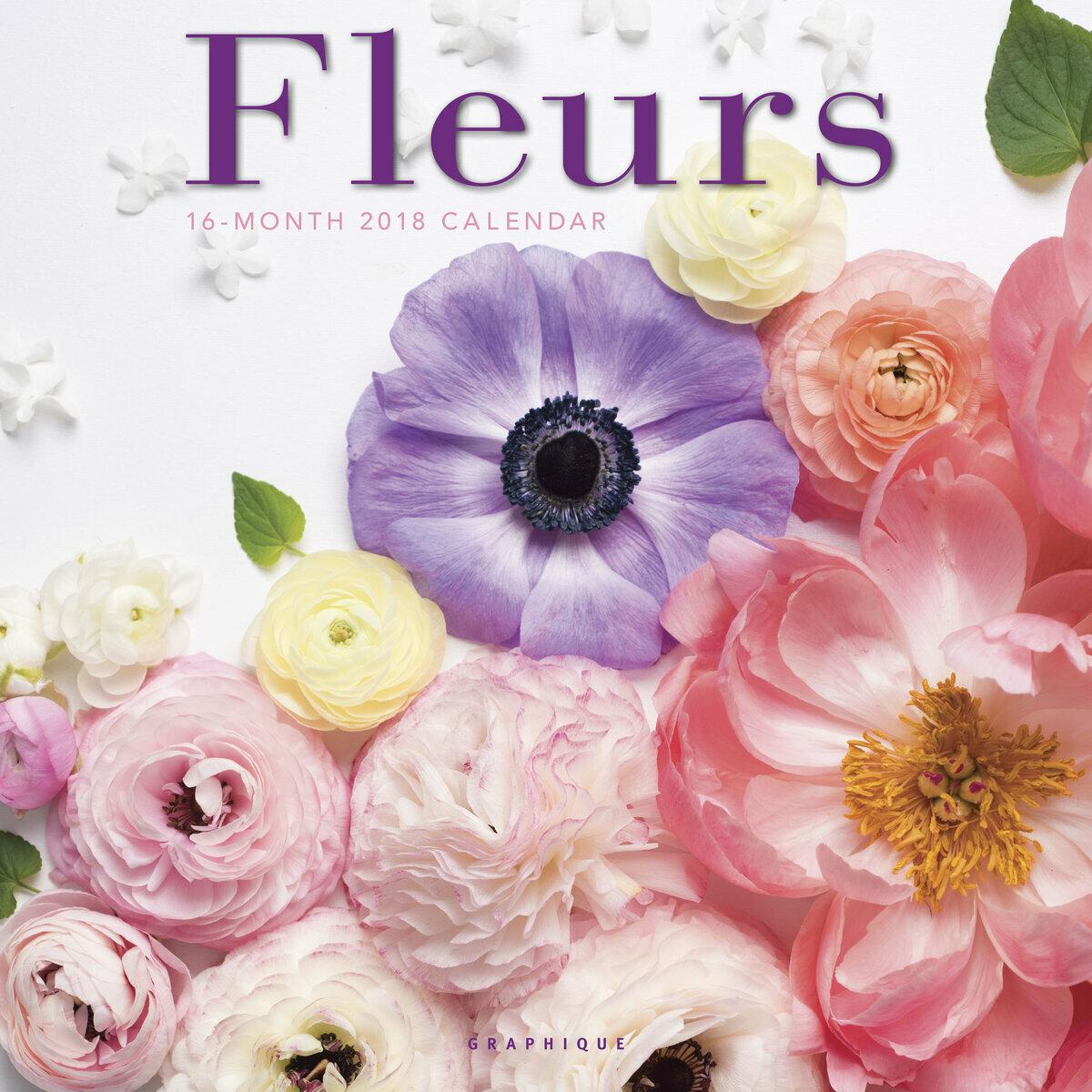 Calendrier bouquet de fleur du jardin 2018 - Calendrier des fleurs coupees ...