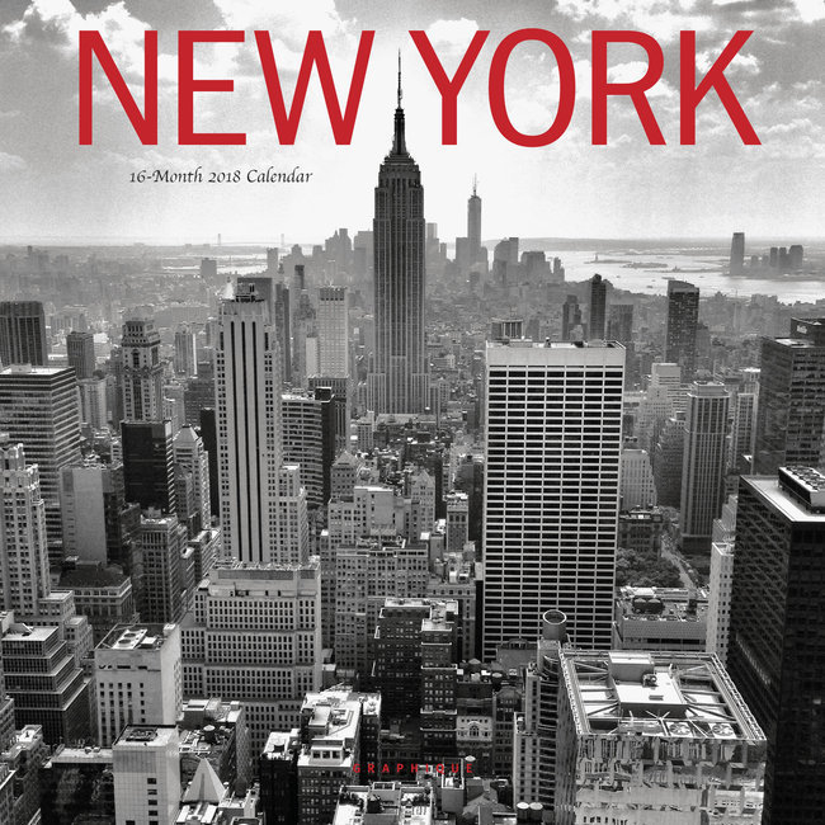 mini calendrier 2018 new york noir et blanc. Black Bedroom Furniture Sets. Home Design Ideas