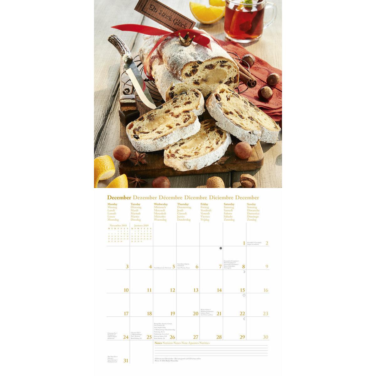 Calendrier 2018 cuisine gourmande par rafael pranschke for Cuisine gourmande