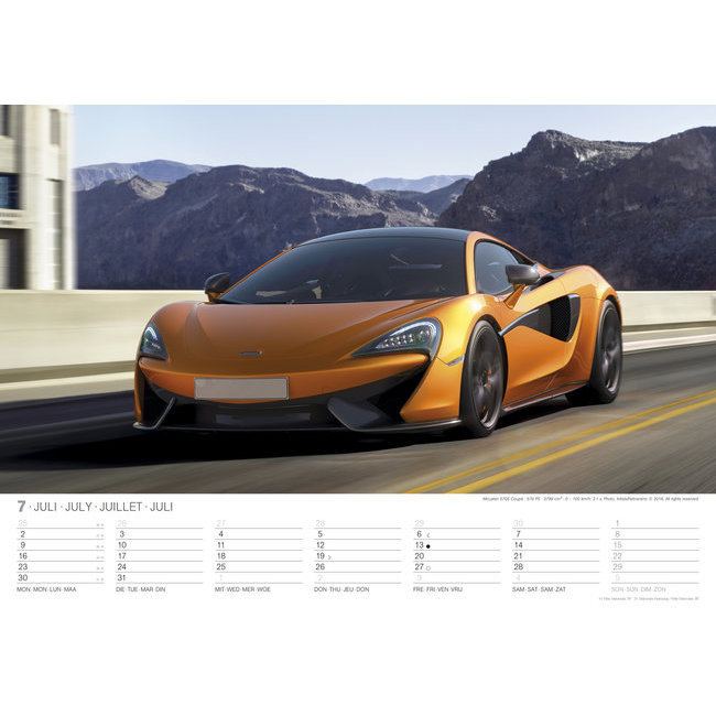 Assez Maxi Calendrier 2018 Voiture sportive FT66