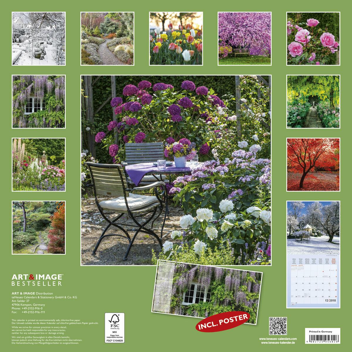 Calendrier 2018 jardin avec poster offert for Calendrier travaux jardin