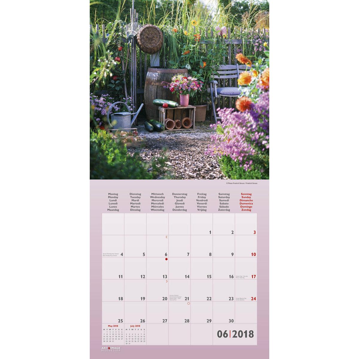 Calendrier 2018 d coration de jardin avec poster offert for Cendrier de jardin