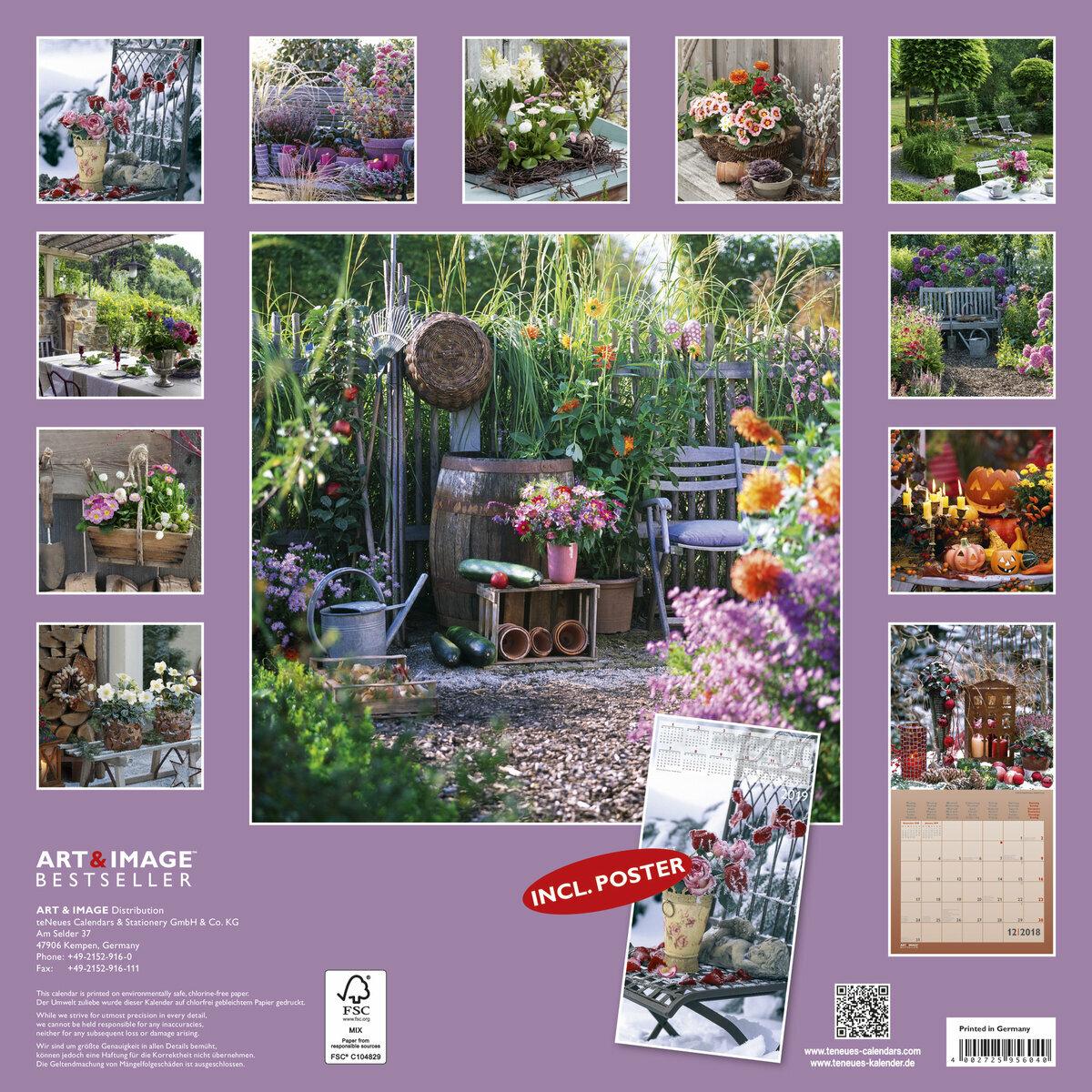 Calendrier 2018 d coration de jardin avec poster offert for Calendrier travaux jardin