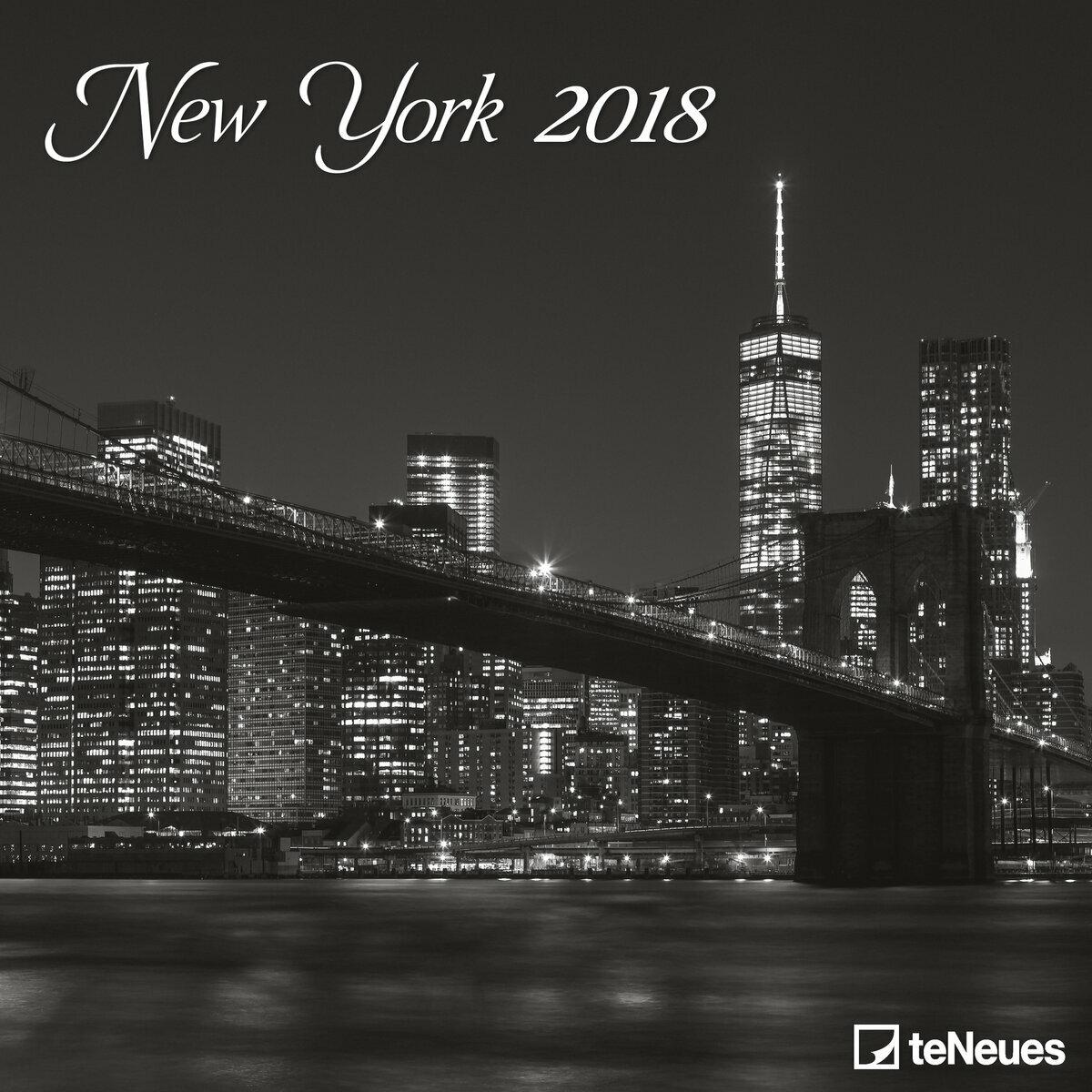 Calendrier new york 2018 for Credence new york noir et blanc