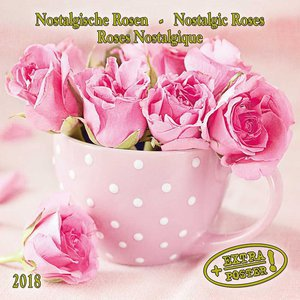 Calendrier 2018 Roses de collection anicennes AVEC POSTER OFFERT