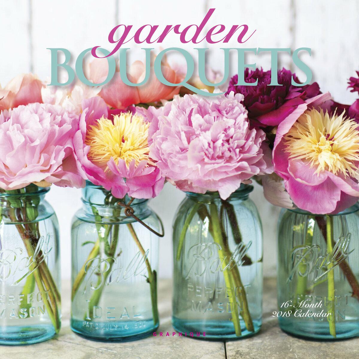 mini calendrier bouqeuts de fleurs du jardin 2018. Black Bedroom Furniture Sets. Home Design Ideas