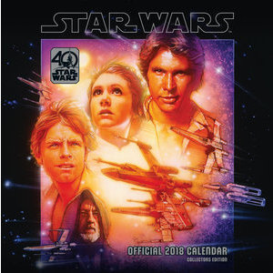Calendrier 2018 Star Wars - édition collector 40 ans