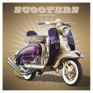 Calendrier 2018 Scooters vintage