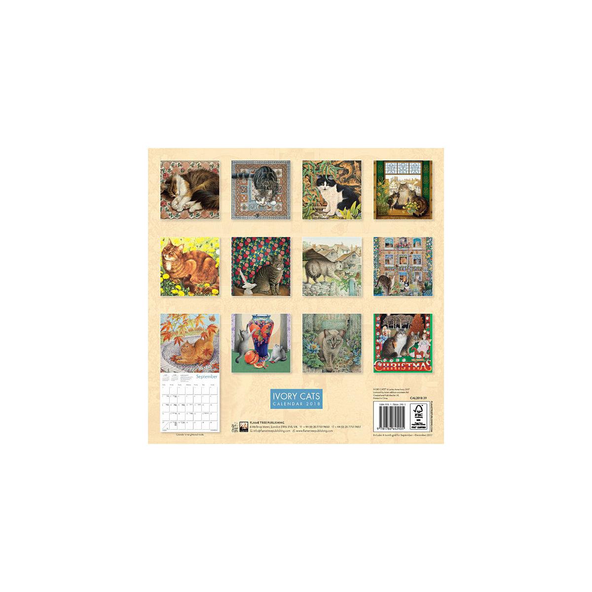 calendrier 2018 chats dans l\'art Ivory