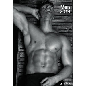 Hommes Noirs Sexy maxi calendrier 2019 sexy homme noir et blanc