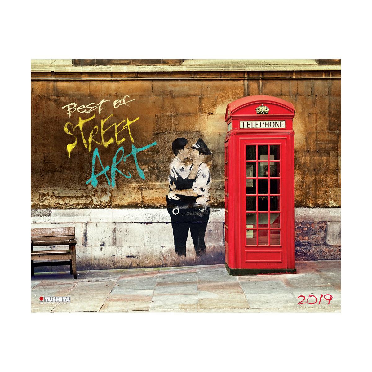 Calendrier Mural Grand Format.Maxi Calendrier 2019 Street Art Art Urbain Maxi Grand Format