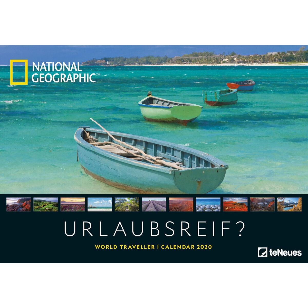 Calendrier National 2020.Maxi Calendrier 2020 National Geographic Voyage Autour Du Monde