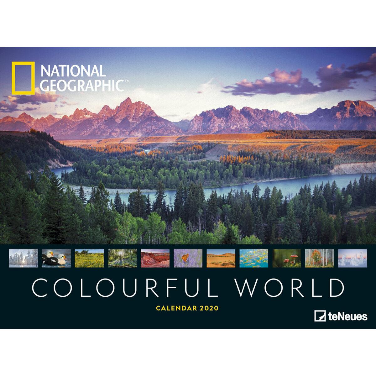Calendrier National 2020.Maxi Calendrier Poster 2020 Un Monde Colore Par National Geograhic