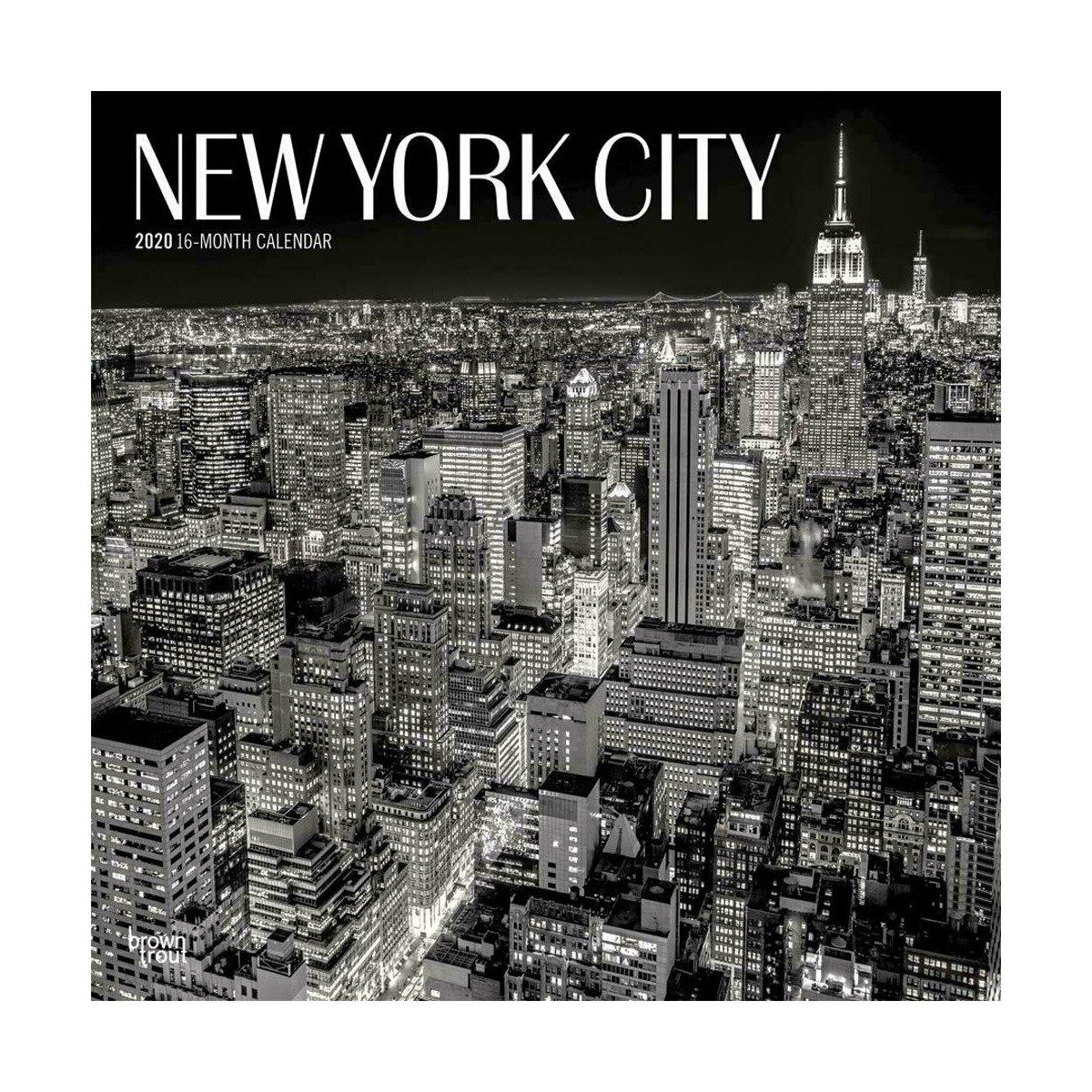 Calendrier City.Calendrier New York 2020