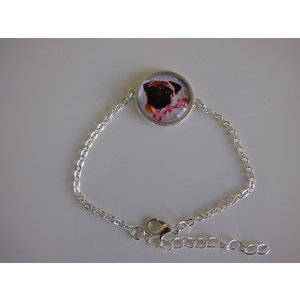 Bijoux bracelet fantaisie photo Carlin - cabochon rond verre