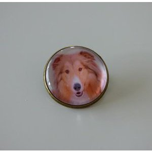 Bijoux broche fantaisie photo Colley - cabochon rond verre
