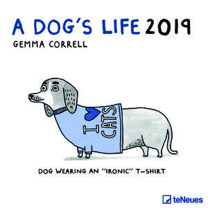 Calendrier 2019 BD humour chien - a dog's life
