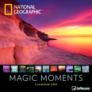 Calendrier 2019 National Geographic Couché de soleil