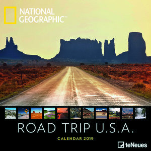 Calendrier 2019 National Geographic Road Trip USA
