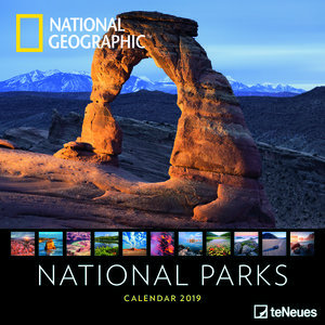Calendrier 2019 National Geographic Parc Nationaux