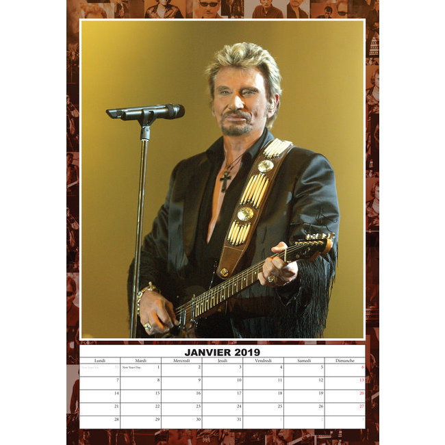 Calendrier 2020 Johnny Hallyday Officiel.Calendrier 2019 Johnny Hallyday Format A3