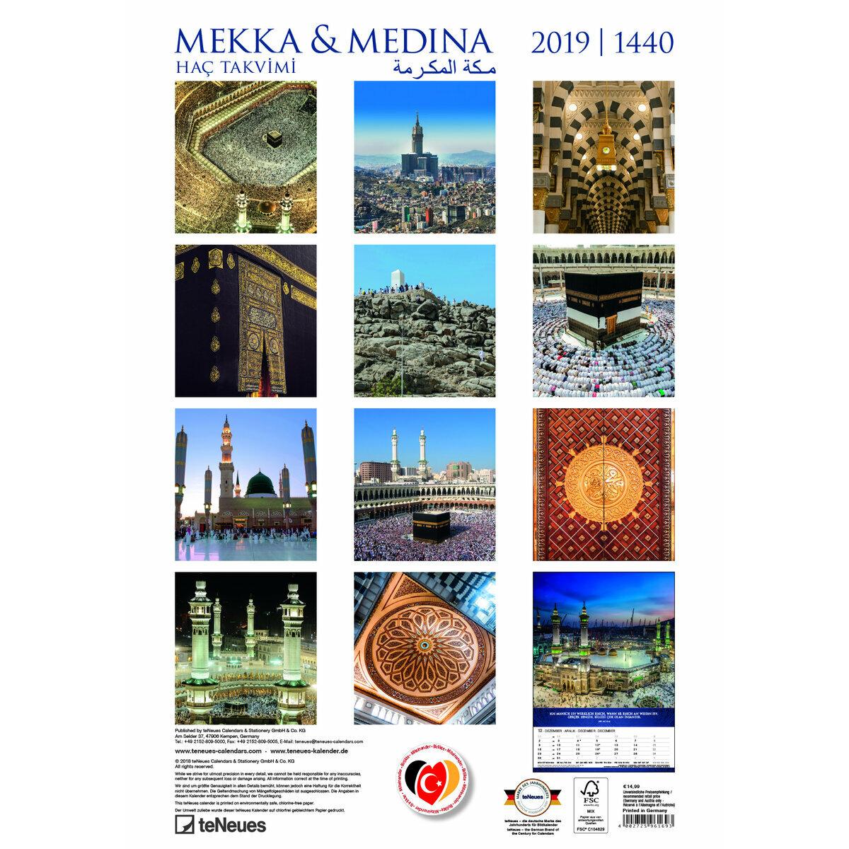 Calendrier Hac.Maxi Calendrier 2019 Mecque Et Medina