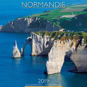 Calendrier chevalet 2019 Normandie