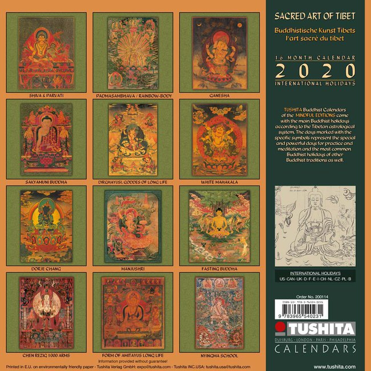 Achat Calendrier 2020.Calendrier 2020 L Art Sacre Du Tibet