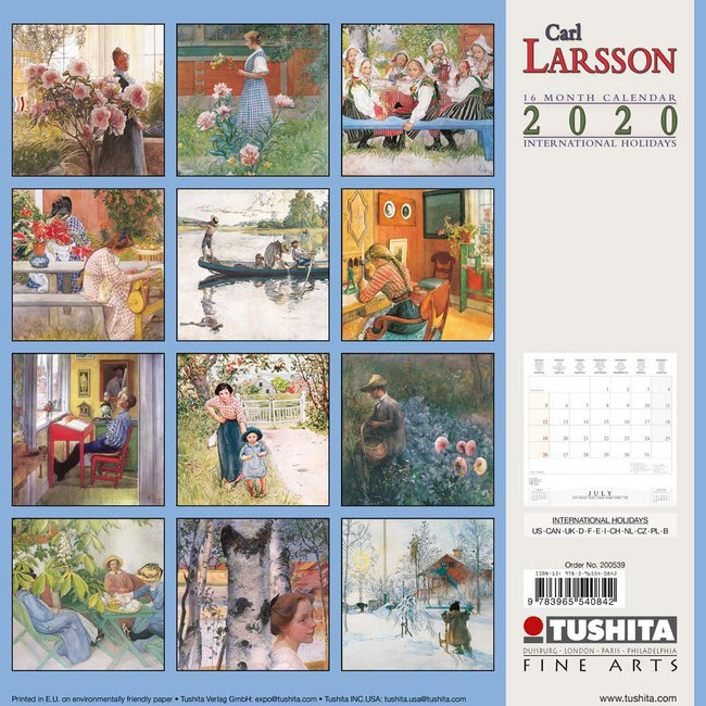 Calendrier 2020 Can.Calendrier 2020 Carl Larsson