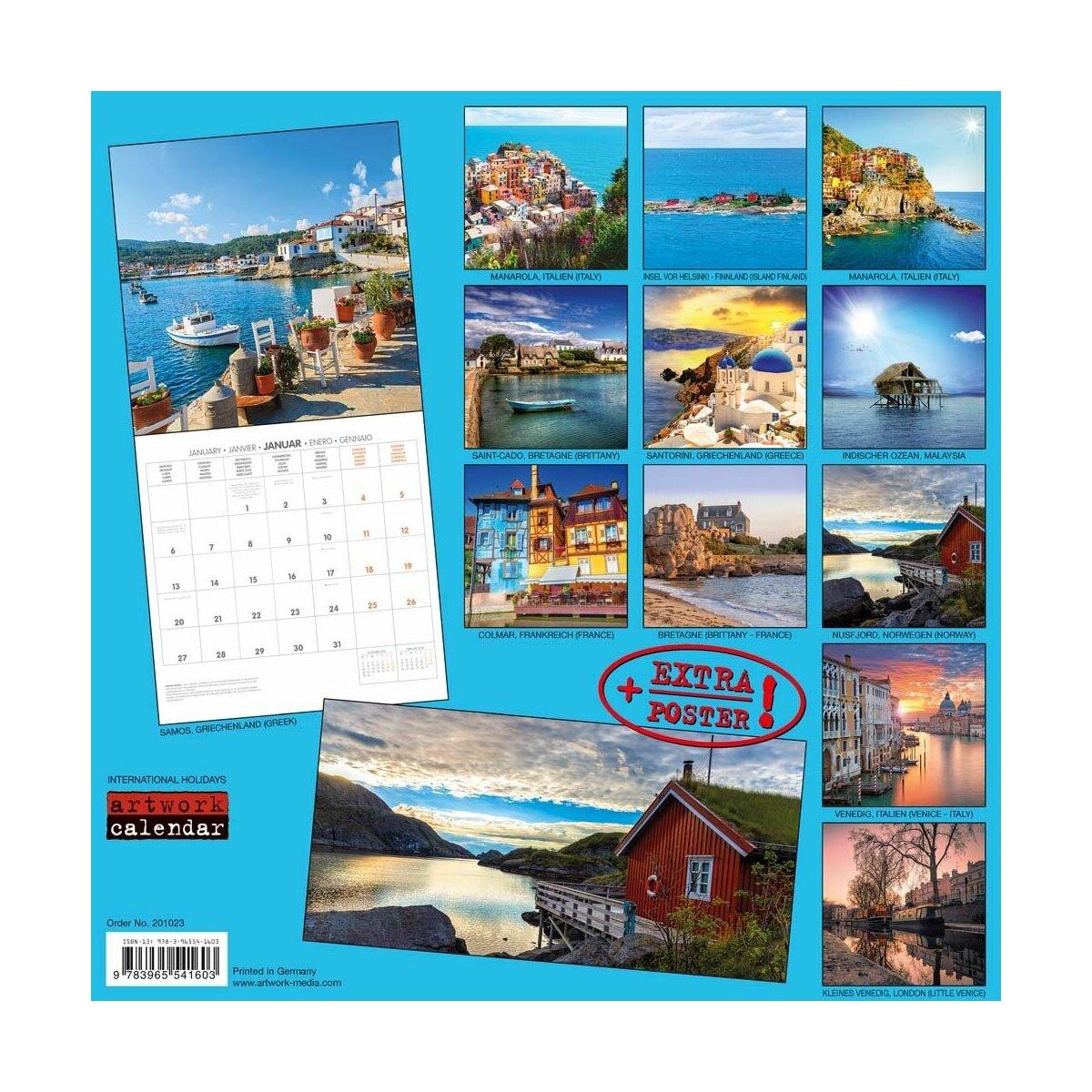 Calendrier 2020 Avec Photos.Calendrier 2020 Majorque Avec Poster Offert