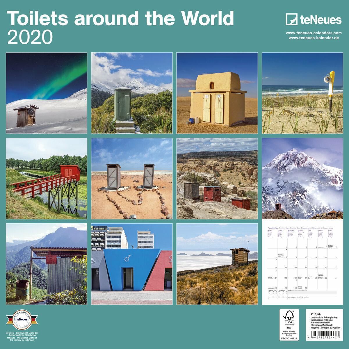 Calendrier World Tour 2020.Calendrier 2020 Tour Du Monde Des Toilettes