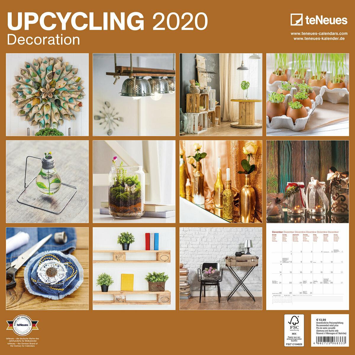 Calendrier 2020 Deco interieure recyclée