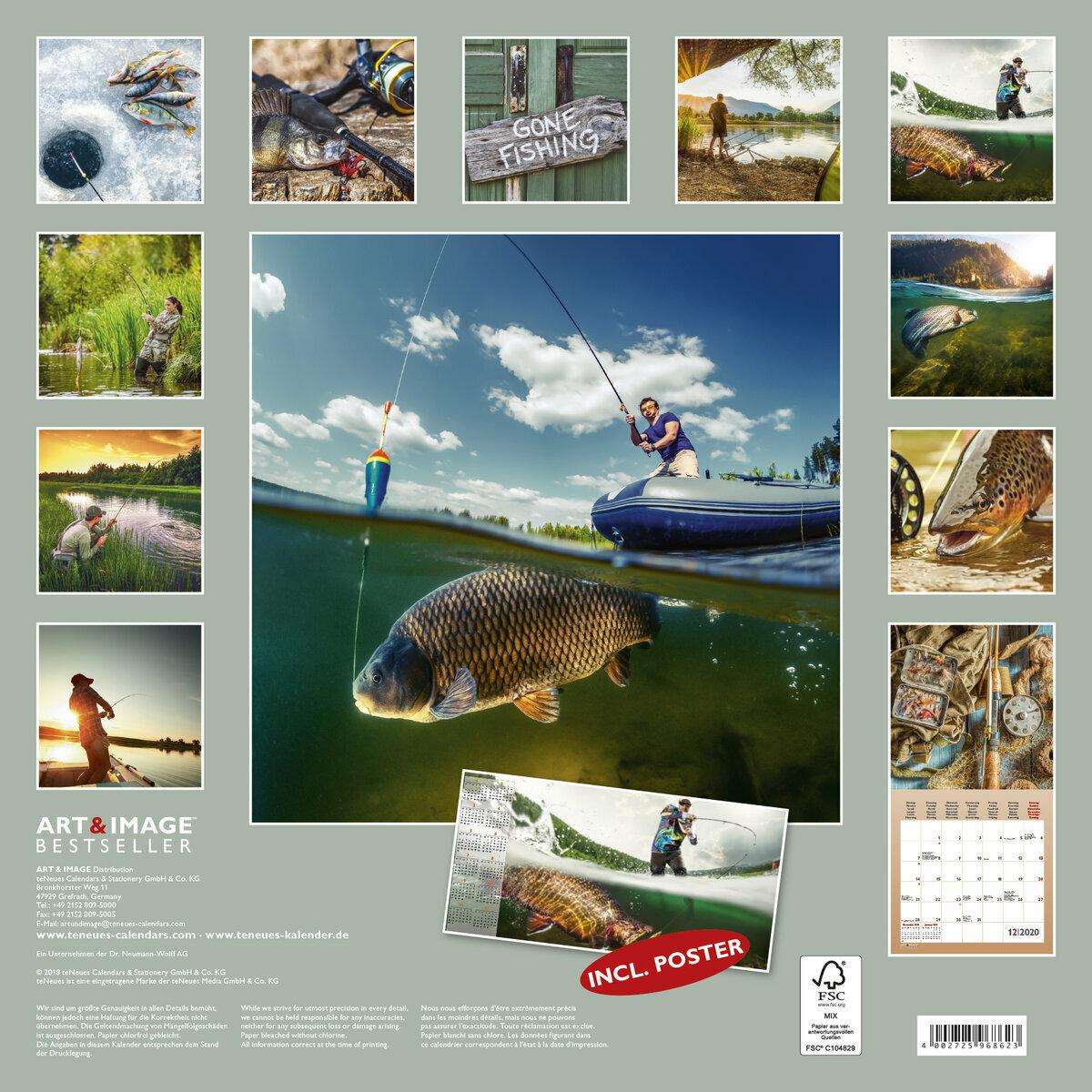 Calendrier De Peche 2020.Calendrier 2020 Peche A La Ligne Avec Poster Offert