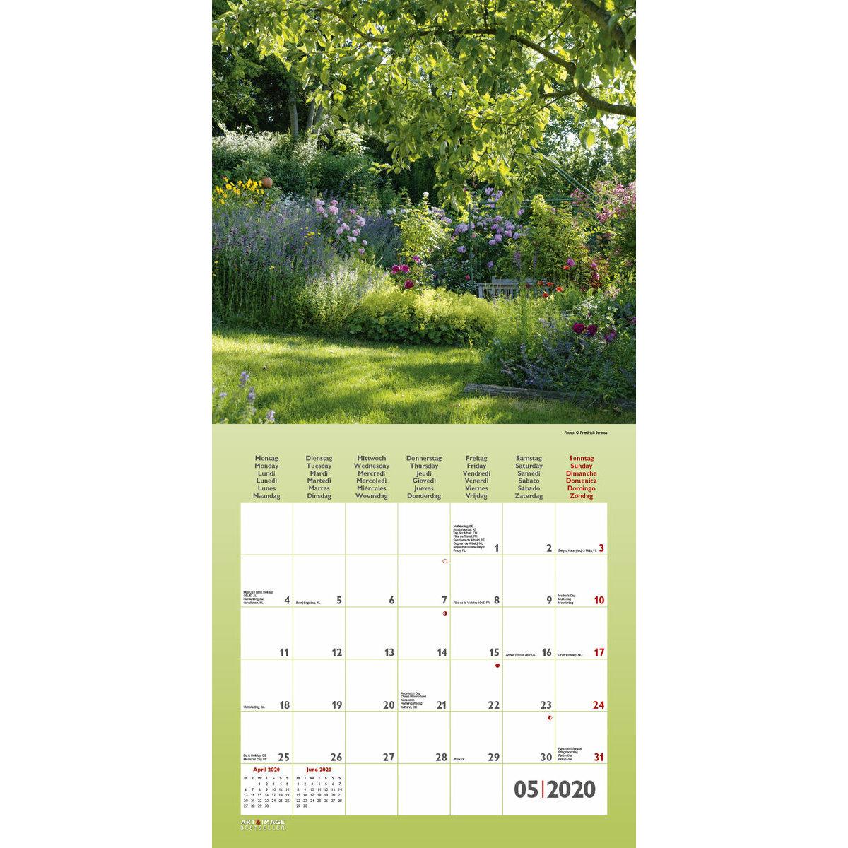Calendrier 2020 Avec Photos.Calendrier 2020 Jardin Avec Poster Offert
