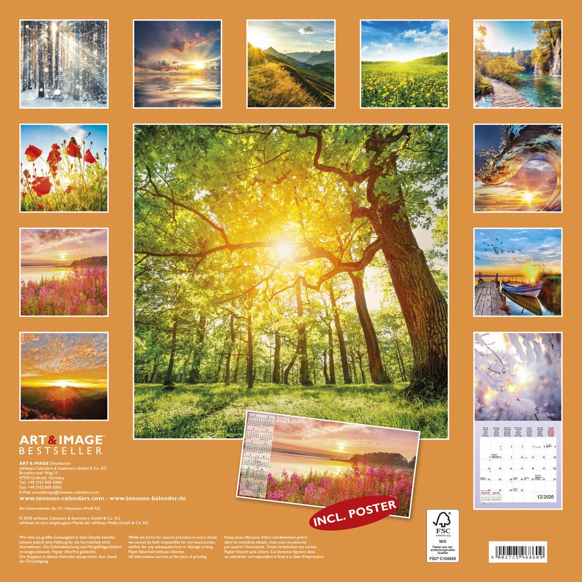 Calendrier 2020 Avec Photos.Calendrier 2020 Paysage Ensoleille Avec Poster Offert