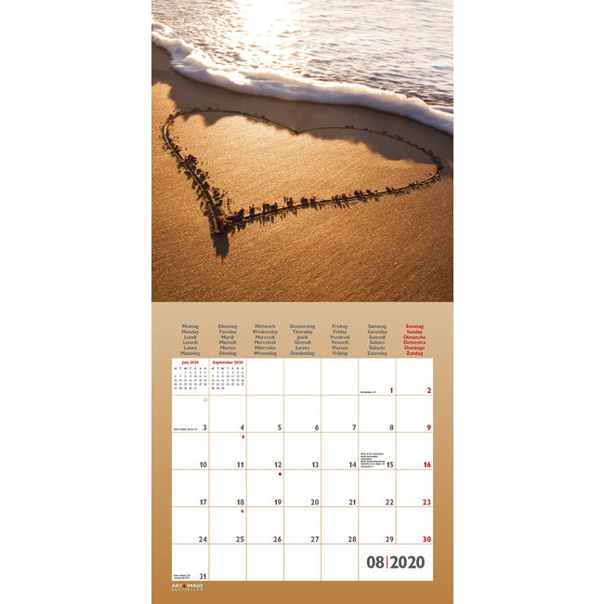 Calendrier 2020 Avec Photos.Calendrier 2020 Amour Avec Poster Offert