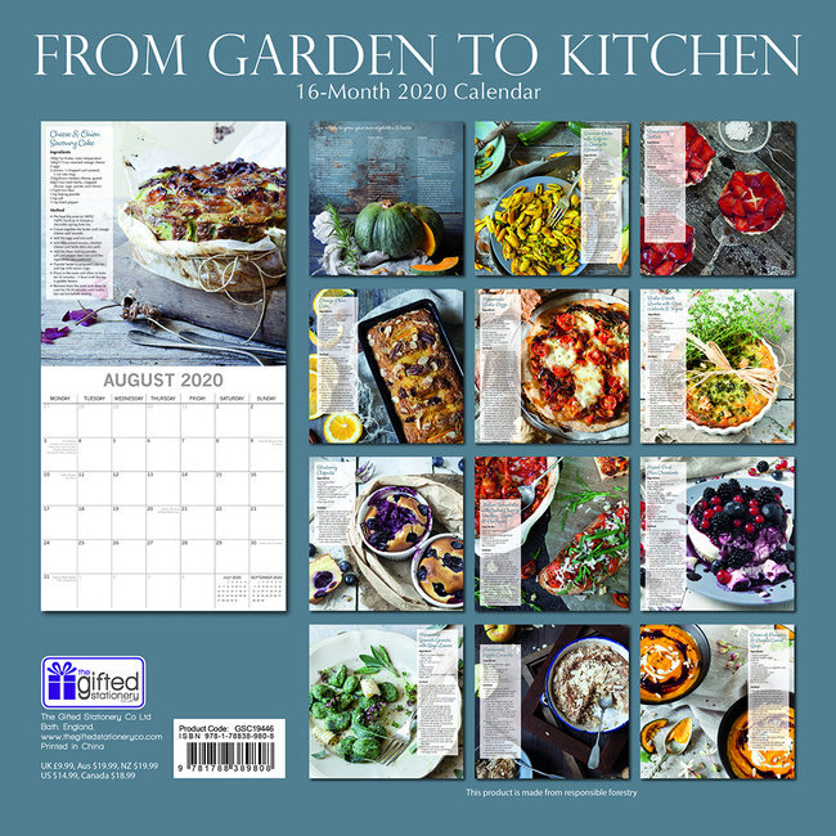 Calendrier 2020 Du jardin à la cuisine