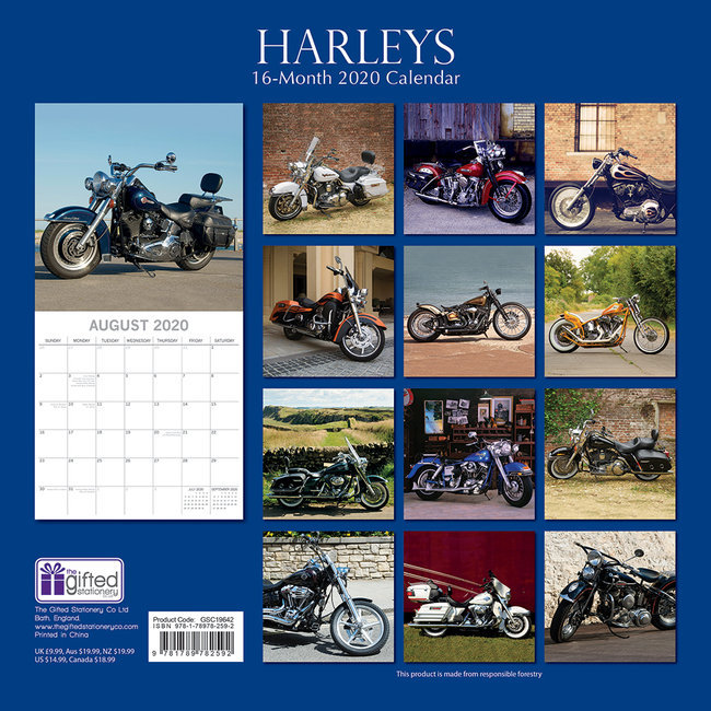 Calendrier Avant 2020.Calendrier 2020 Harley Davidson