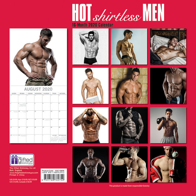 Calendrier 2020 Homme Nu.Calendrier 2020 Sexy Homme Torse Nu