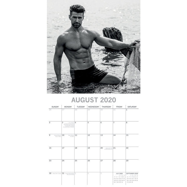 Calendrier 2020 Homme Nu.Calendrier 2020 Sexy Homme Nu