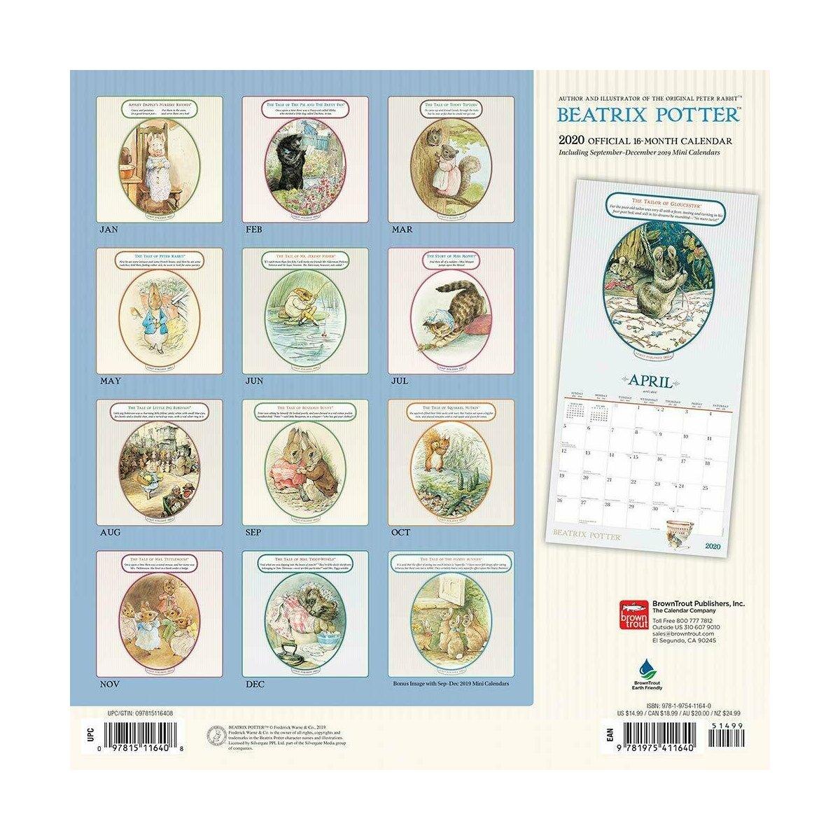 Calendrier De L Avent Original 2020.Calendrier 2020 Beatrix Potter Pierre Lapin