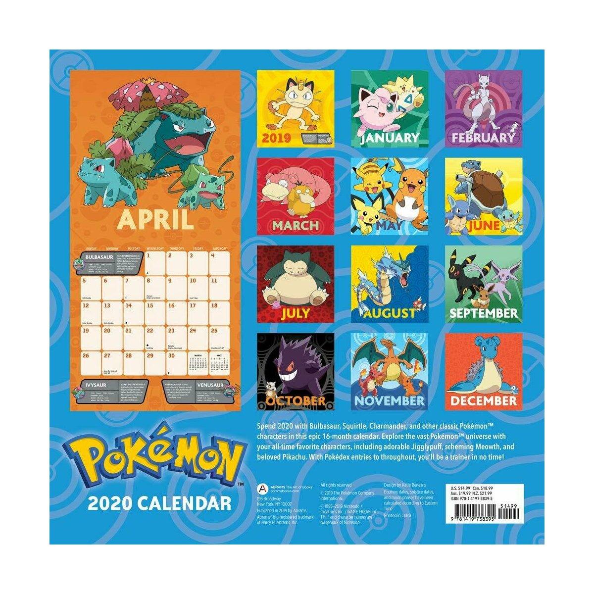 Calendrier De Lavent Pokemon 2020.Calendrier 2020 Pokemon