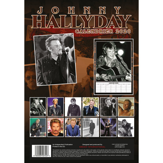Calendrier 2020 Johnny Hallyday Officiel.Calendrier 2020 Johnny Hallyday Format A3