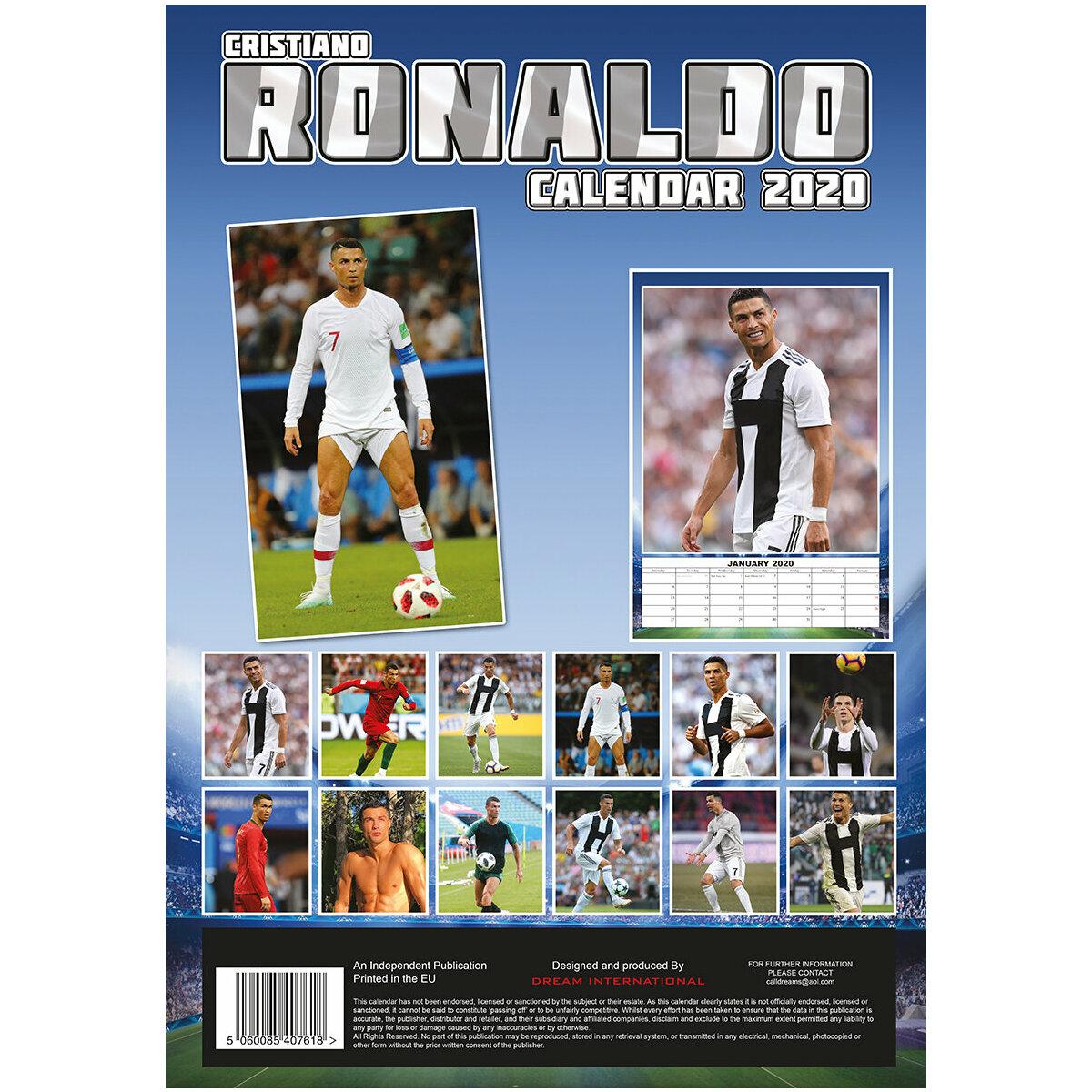 Calendrier De Lavent Football.Calendrier 2020 Cristiano Ronaldo Format A3