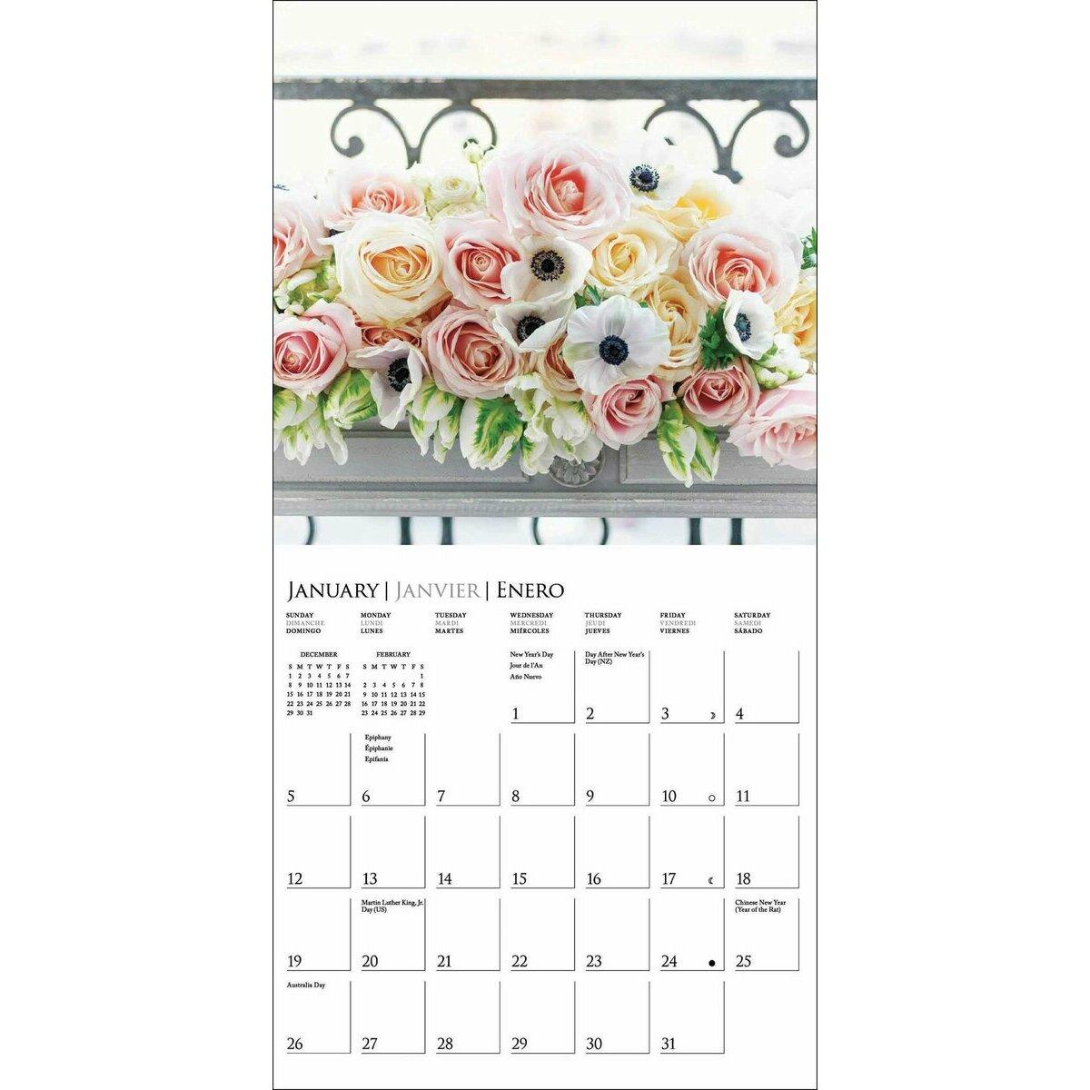 mini calendrier bouqeuts de fleurs du jardin 2020