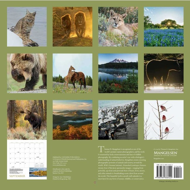 Calendrier 2020 Animaux.Calendrier 2020 Animaux Sauvage